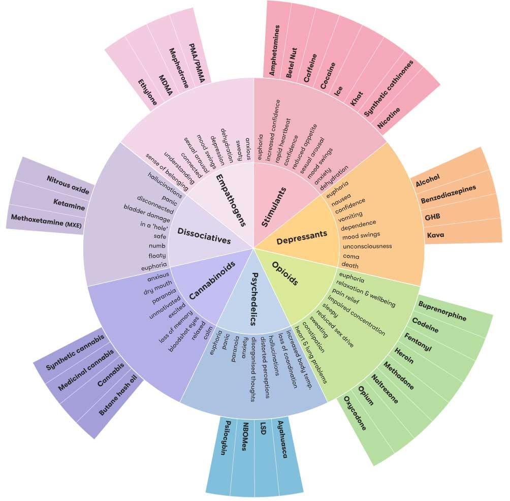 Australian Drug Foundation Drug Wheel